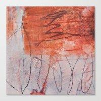orange experiments Canvas Print