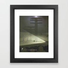 Close Encounter of the Seventh Kind - Collaboration Framed Art Print