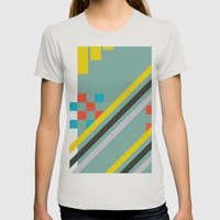 Squarely Womens Fitted Tee Silver SMALL
