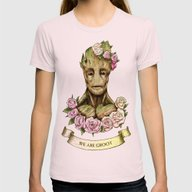 We Are Groot Womens Fitted Tee Light Pink SMALL