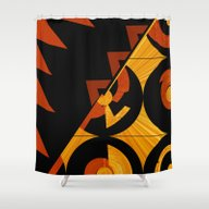 Art Deco Square Two Abst… Shower Curtain