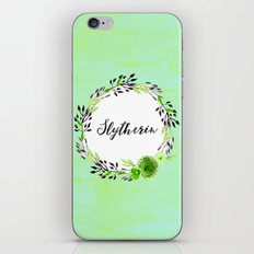 HP Slytherin in Watercolor iPhone & iPod Skin