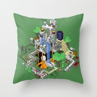Minecraft World Throw Pillow