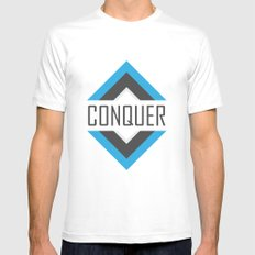 CONQUER Mens Fitted Tee White SMALL