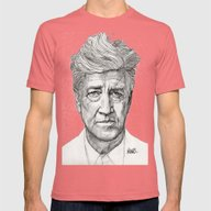 David Lynch Mens Fitted Tee Pomegranate SMALL