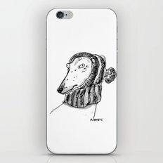 winter greyhound iPhone & iPod Skin