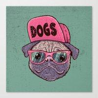 Dogs Canvas Print