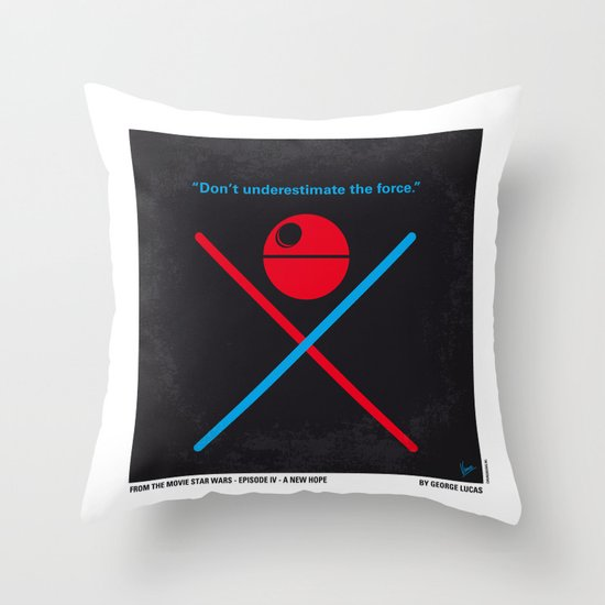 No154 My STAR Episode IV A New Hope WARS minimal movie poster Throw Pillow