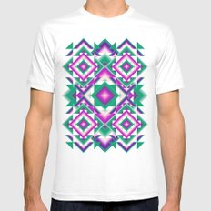 kaleidoscope White SMALL Mens Fitted Tee