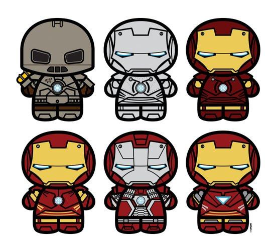 Chibi-Fi Iron Man Movie Armory Canvas Print