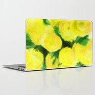 Yellow Flowers II Laptop & iPad Skin
