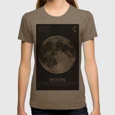 The Moon Womens Fitted Tee Tri-Coffee SMALL