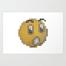 Emoticon Ohh Art Print