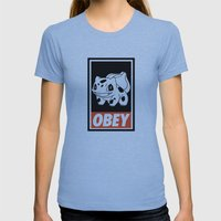 OBEY Bulbasaur Womens Fitted Tee Athletic Blue SMALL