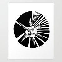 6 Points Art Print