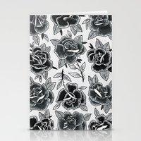 Dozen Roses - Black and White Stationery Cards