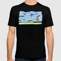 Float Away Mens Fitted Tee Black SMALL