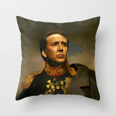 Nicolas Cage - replaceface Throw Pillow