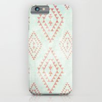 mint & coral tribal pattern iPhone 6 Slim Case