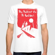 Das Kabinett Des Dr Caligari SMALL White Mens Fitted Tee