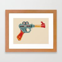 Gun Toy Framed Art Print