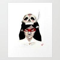 Warpaint Art Print