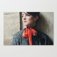 Snowscape Portrait Canvas Print