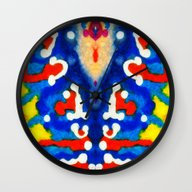 Wall Clock featuring Coral Mirror Effect by Coastal Life- Interp…