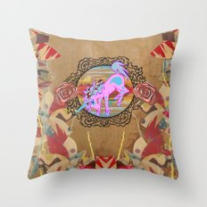 Giddy-Up Fairytale Cowgirl Unicorn Throw Pillow