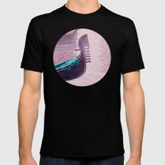 GONDOLA Black Mens Fitted Tee SMALL