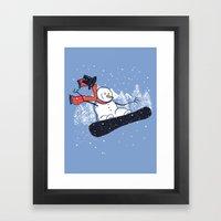 Snow Ahead! Framed Art Print