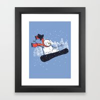Snow Ahead! Framed Art Print