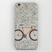 Fixed gear bikes iPhone & iPod Skin