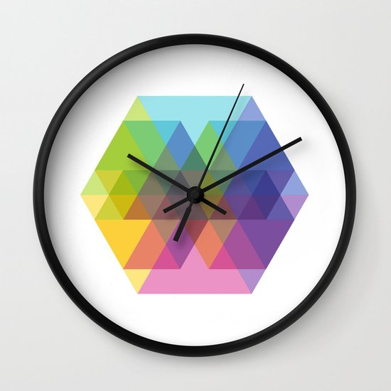 Fig. 040 Hexagon Shapes Wall Clock