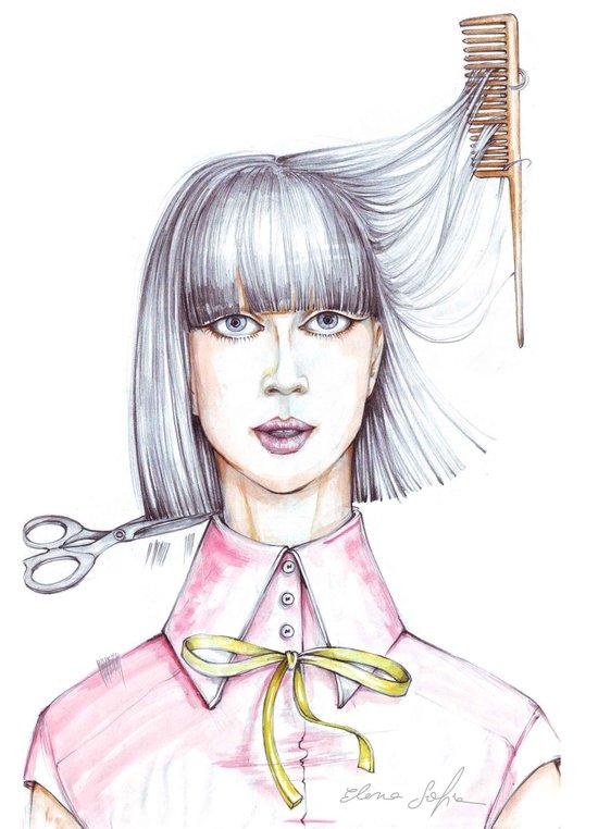 Haircut Art Print