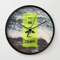 ARMS ME WITH STRENGTH Wall Clock