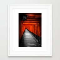 Framed Art Print featuring Fushimi Inari Shrine by Michelle McConnell