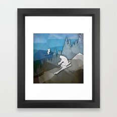 The Skiers Framed Art Print