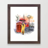 Meet Me in London Framed Art Print