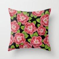Alpen Rose Allover Throw Pillow