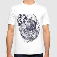 Jungle Kong Mens Fitted Tee White SMALL