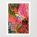 Sunk into a Candy Cave Art Print