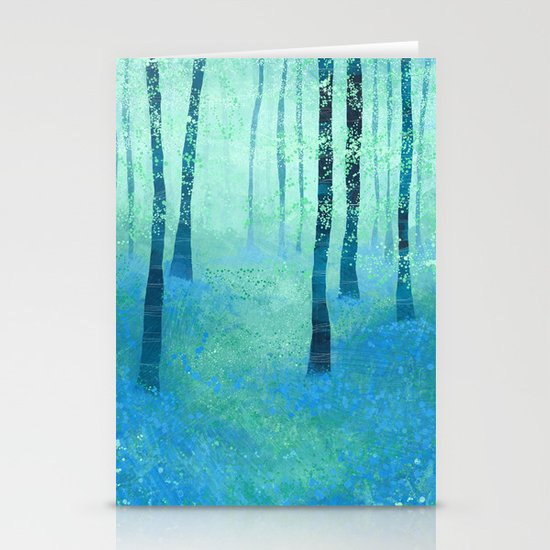 Bluebells, Challock Stationery Card