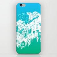 Melty Ice Cream Truck - Mint iPhone & iPod Skin