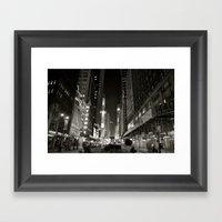 Times Square Noir Framed Art Print