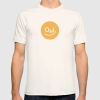 Oui Mens Fitted Tee Natural SMALL