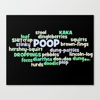 Poop poster Canvas Print