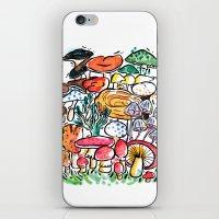 Fungi family iPhone & iPod Skin