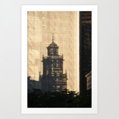 Under Construction Shadow Art Print