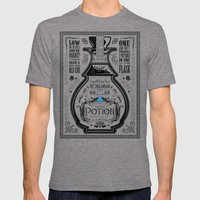 Legend of Zelda Blue Chu Potion Advertisement Mens Fitted Tee Tri-Grey SMALL